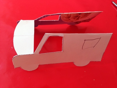 3D van tutorial, transport craft ideas, car craft ideas kids