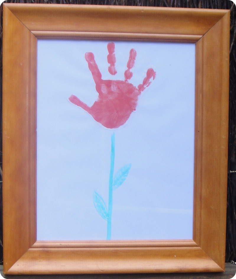 Red Rose Handprint Flower