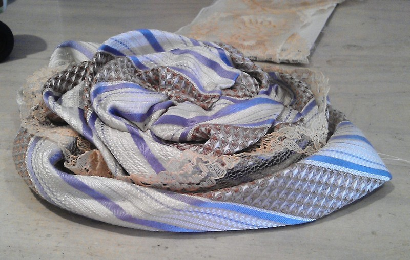 Silk Necktie & Lace Fascinator