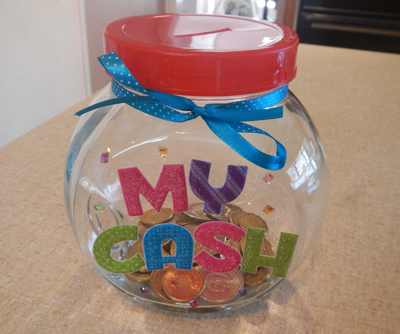 Decorated Money Jar