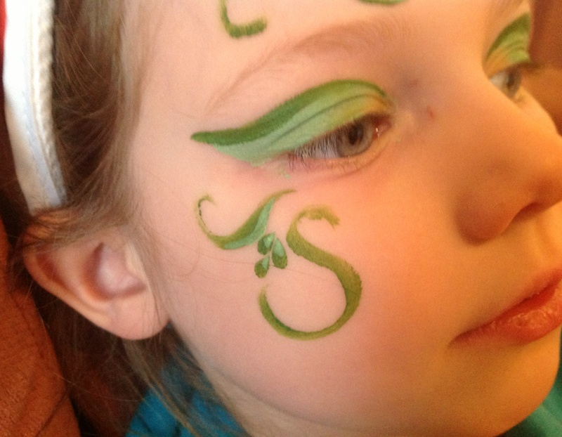 Face flower fairy face paint image 10 for Fairy painting easy