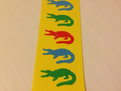 Crocodile cut outs, craft punch crocodile