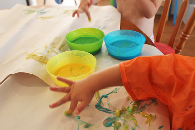 Finger Painting, diy finger paint, finger paint recipe, edible finger paint