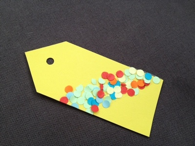 Gift tag, confetti, toddler, preschool