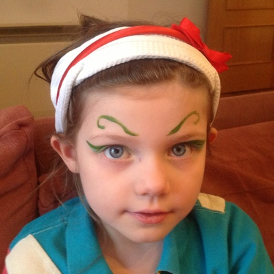 Green, eyebrows