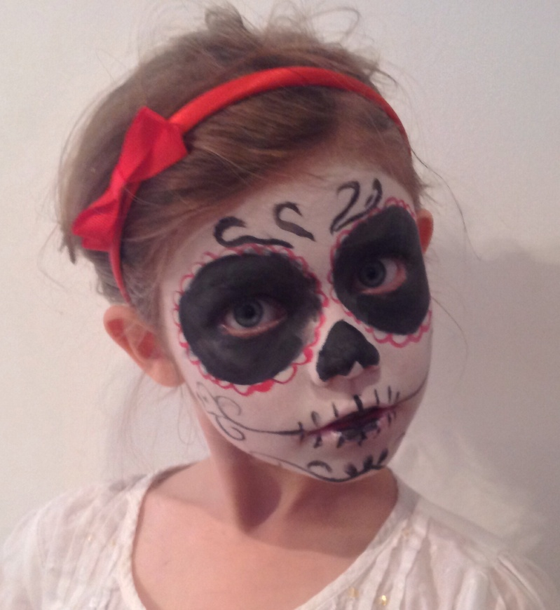 halloween day of the dead sugar skull face paint - Halloween Day Of The Dead Face Paint