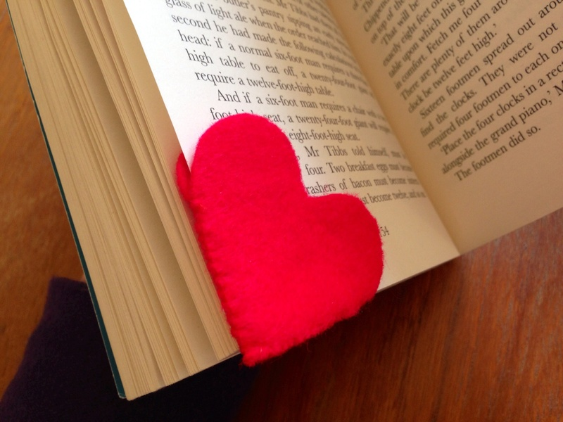 Felt Heart Bookmark My Kid Craft