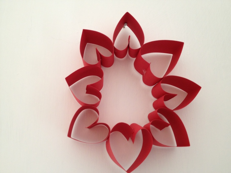 Heat Valentine Wreath Paper Craft Valentine Heart Paper Wreath