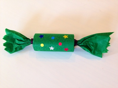 Homemade cracker, Christmas cracker wrapping, toilet tube cracker, fun kids wrapping