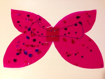How to make butterfly wings, fairy wings, angel wings, ladybird wings