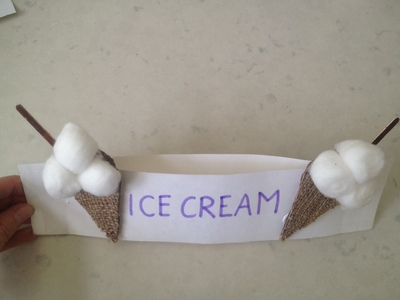 Ice cream hat, ice cream seller's hat, kids craft ice cream hat, ice cream craft, gelato craft, kids craft gelato