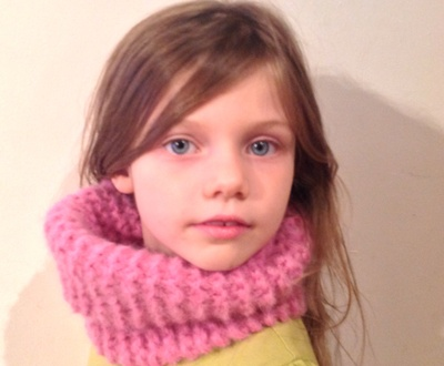 Knitting, cowl, pink, yarn, child, hat