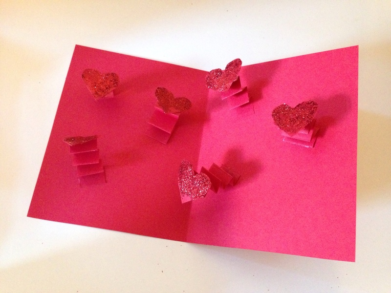 Leaping heart card my kid craft leaping heart card pop up heart card pop up valentines card springy heart m4hsunfo Images