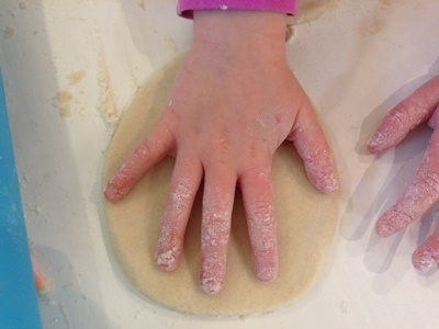 Making salt dough, preschooler salt dough, toddler salt dough