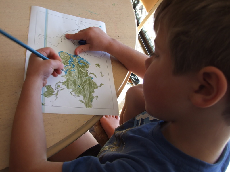 Map, World, Colouring  - The World on a Balloon