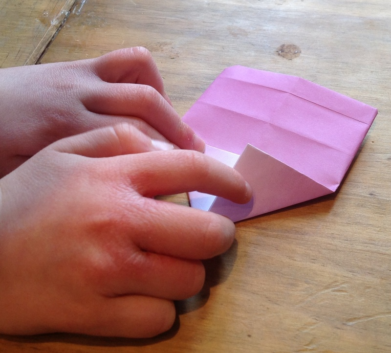 Pink, paper, heart, origami  - Origami Heart