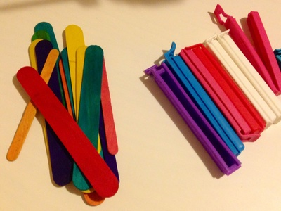 Popsicle stick, ikea kitchen clip, craft