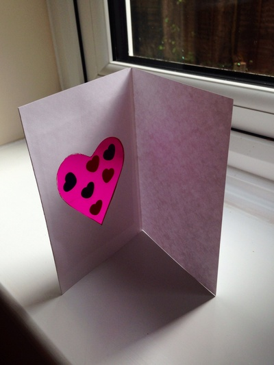 Sun catcher heart card