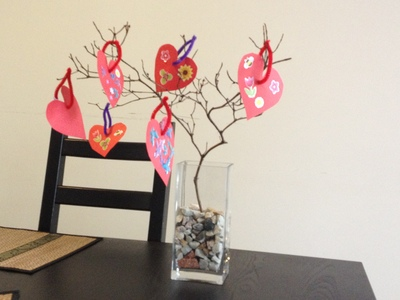 Valentines Day Decorative Tree