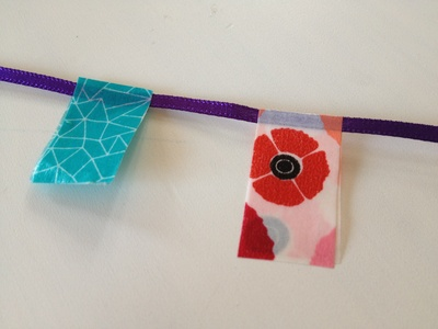 Washi tape, card, bunting