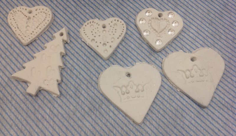 Air Dry Clay Christmas Decorations