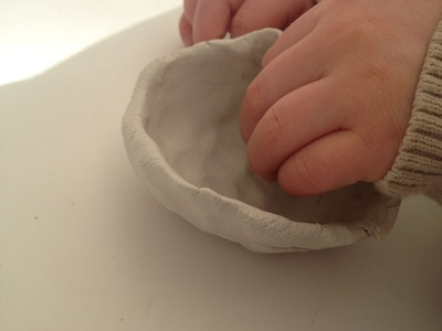 Air dry, clay, pot, preschool, fathers day