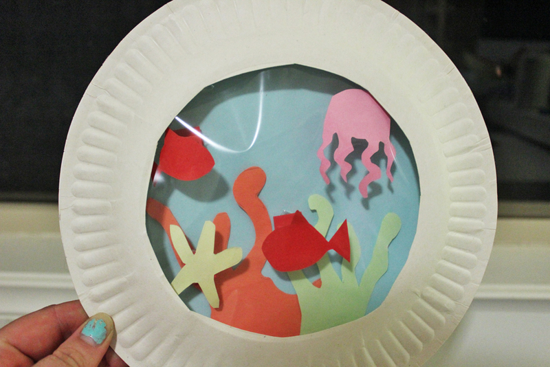 & Paper Plate Aquarium - My Kid Craft