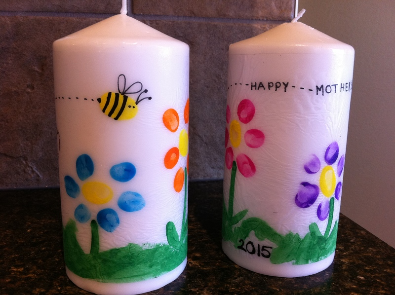 Mother S Day Art Candles My Kid Craft