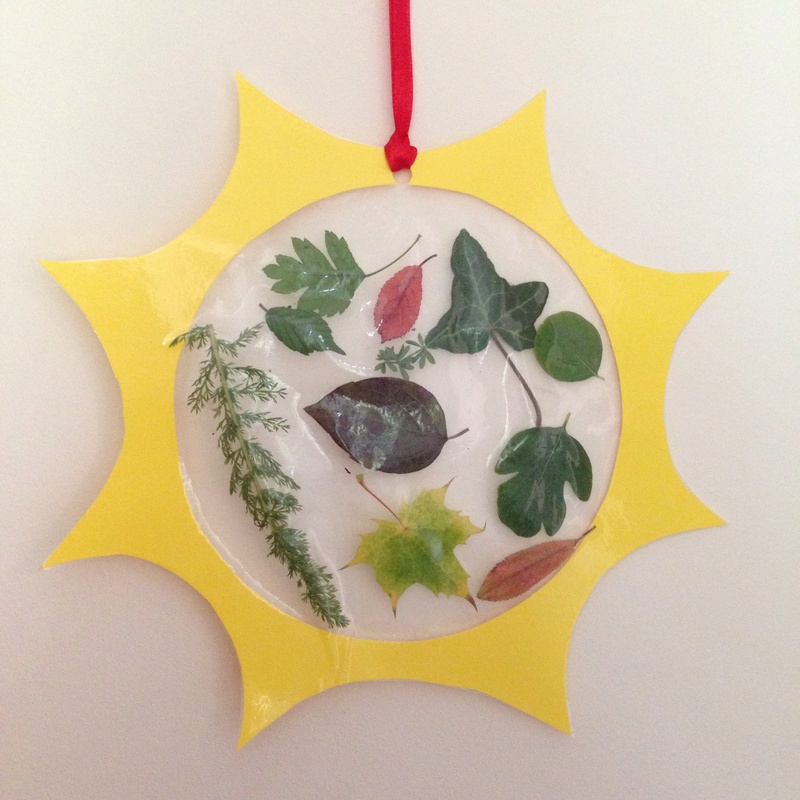 Autumn Leaves Suncatcher My Kid Craft