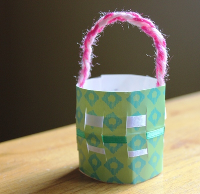 Woven Paper Basket My Kid Craft