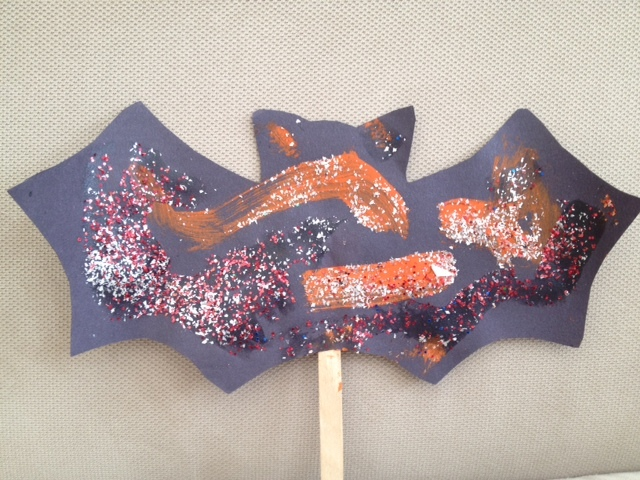 bat, halloween, preschool, toddler, easy craft