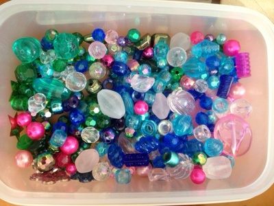 beads, colourful beads, craft beads, pink green blue beads, translucent beads, kids craft beads, beads to make kids bracelet