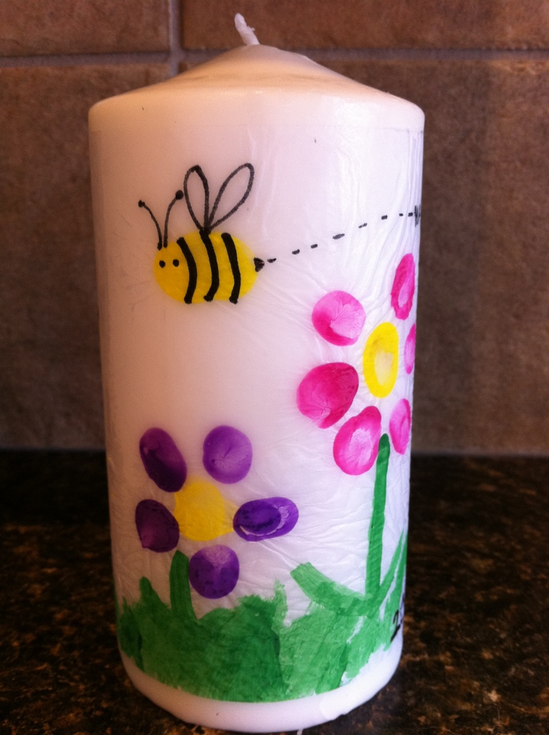 grass  - Mother's Day Art Candles