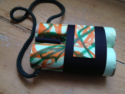 binoculars, toilet roll, pre school, under 5s, craft, modelling, safari