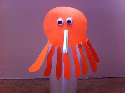 birthday party, drinking straw, straw, decoration, flower, paper, craft, children, octopus
