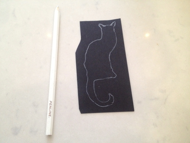 chinese joss paper cat picture, cat silhouette, cat card, black cat card  - Joss Paper Cat Picture