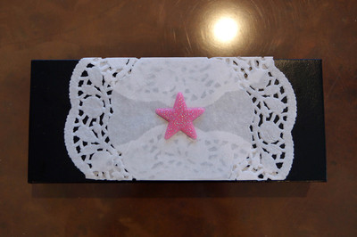 stars, pattern, open box