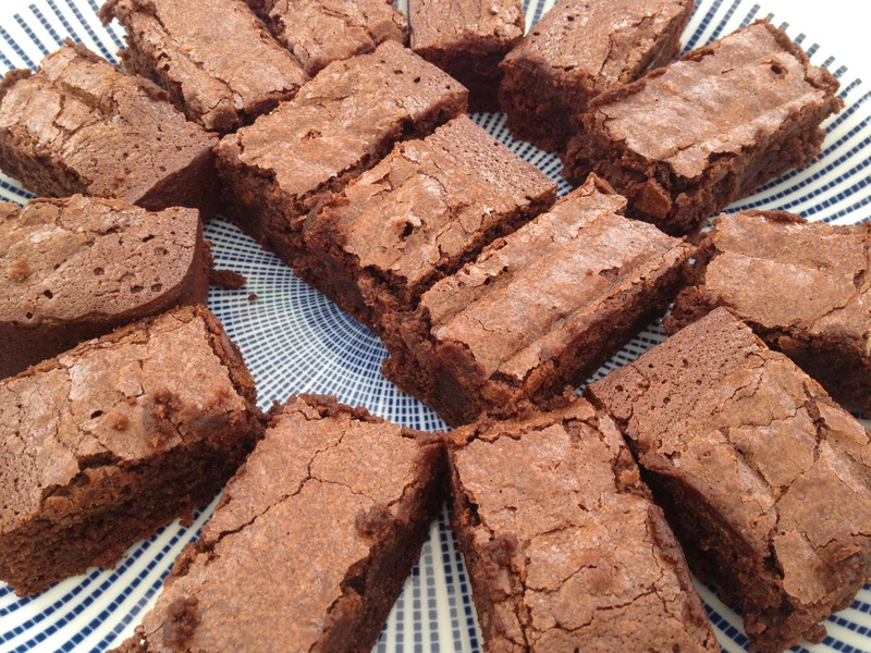 Brownie, chocolate, traffic lights, party food  - Traffic Light Chocolate Brownies