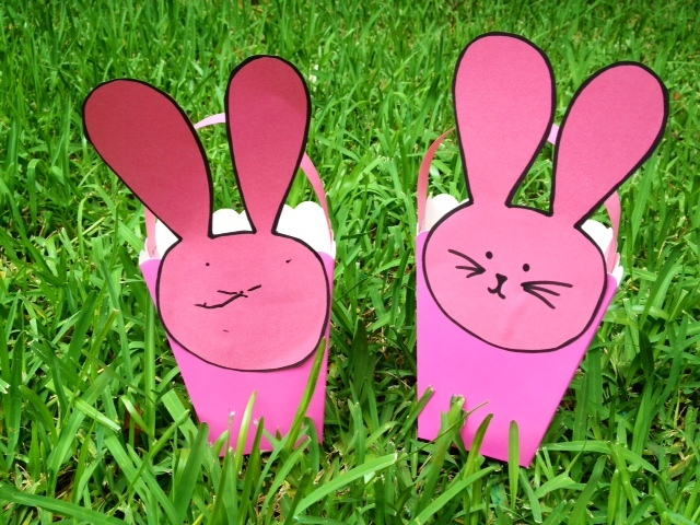 Easy bunny easter basket my kid craft negle Image collections
