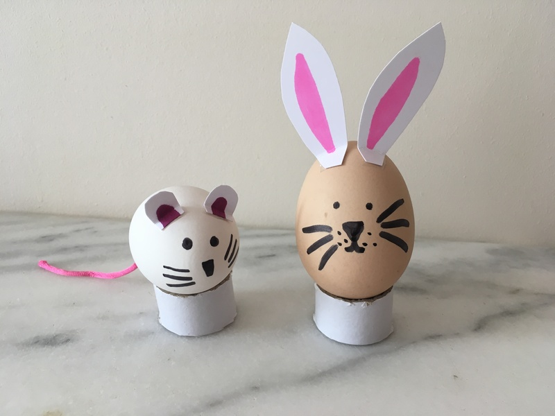bunny and mouse egg decorations