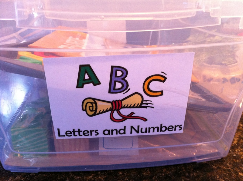 Busy Box  - Letters and Numbers Busy Box