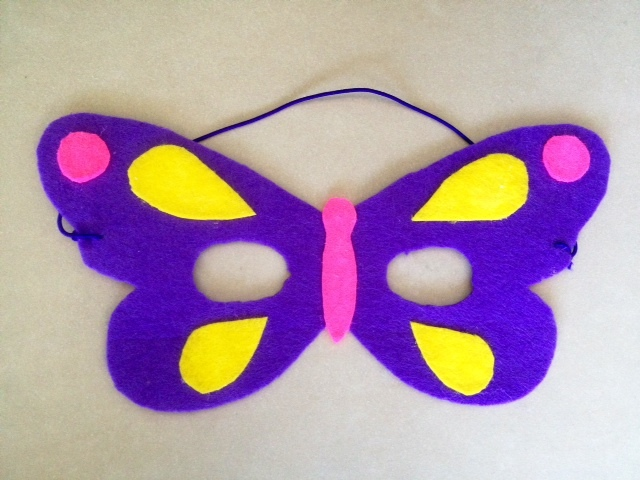 Thanks to this blogger's free printable, this butterfly mask can be made in just a few minutes. After you assemble the paper and popsicle stick, make it pop with glitter, stickers, and other add-ons. Get the tutorial at Kids Craft Room.