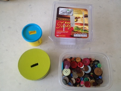 button boxes, boxes with slits, money boxes, button posting boxes, toddler fine motor skills activities