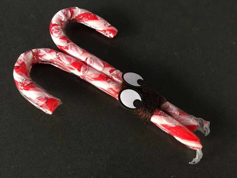 Candy cane, reindeer, Rudolph 