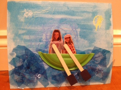 canoe picture imaginative play kids craft water boat