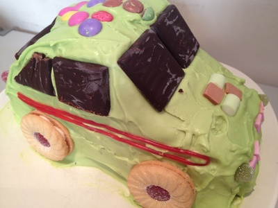 Car, easy, birthday, cake