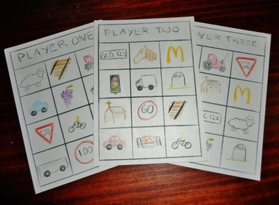 car trip bingo game kids travel