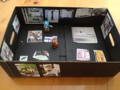 cardboard dolls house, cardboard box dolls house, ikea catalogue dolls house, homemade dolls house, dolls house, easy dolls house, quick dolls house, cheap dolls house