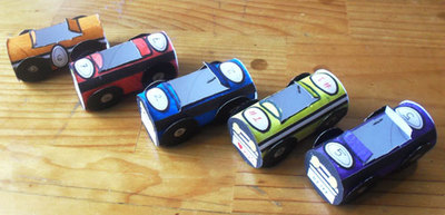 cardboard tube craft,toy car