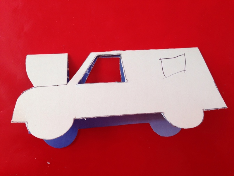 Kids car drawing
